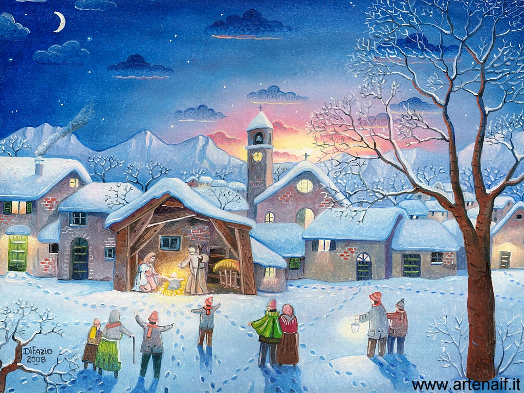 Folk art naive art marino di fazio home page italian for Natale immagini per desktop